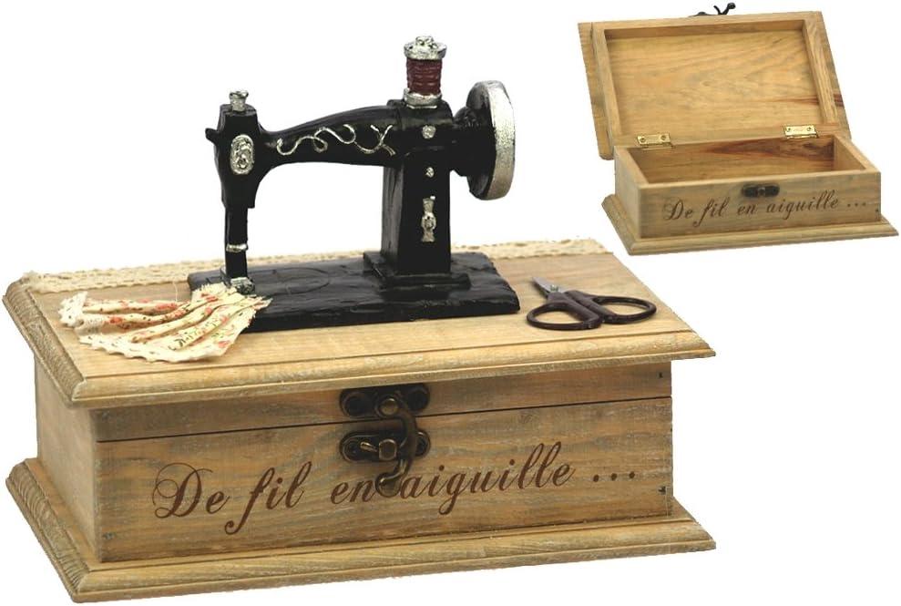 Costurero decorativo (madera), diseño de máquina de coser en ...