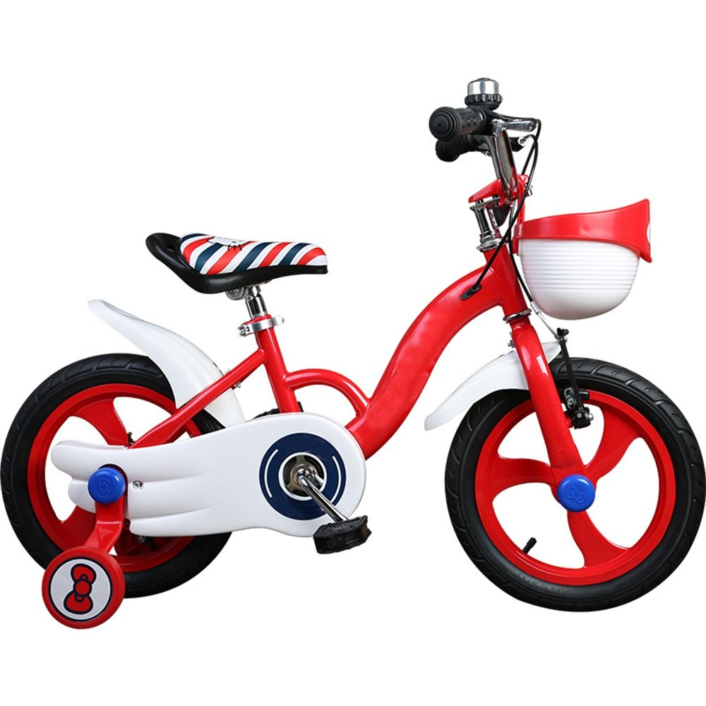 HAIZHEN マウンテンバイク 子供の自転車の女の子12/14/16インチ2歳の女の子の子供の乳母車の自転車へ 新生児 B07C6TTJ1B 12インチ|赤 赤 12インチ
