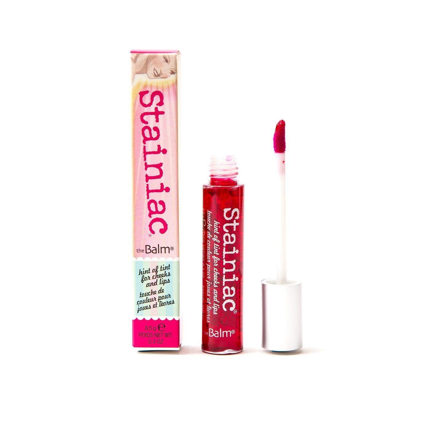 theBalm Stainiac Lip & Cheek Stain, Aloe-Infused Formula, Multi-Use, Buildable, Pigmented by theBalm