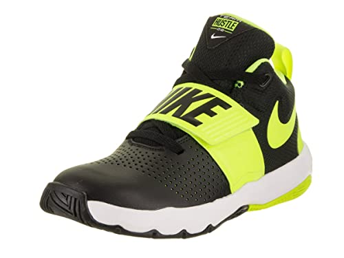 uk availability cf8b9 5e124 Nike Kids Team Hustle D 8 (GS) Black Volt White Basketball Shoe 6