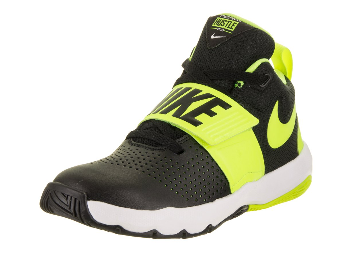 wholesale dealer 072c0 0ccb8 Galleon - NIKE Boy s Team Hustle D 8 (GS) Basketball Shoe Black Volt White  Size 4 M US