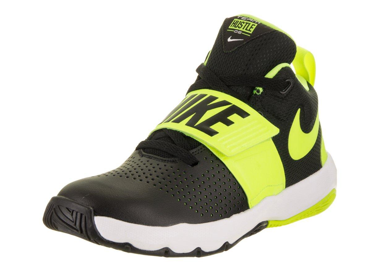 40e6e1f472eb Galleon - NIKE Boy s Team Hustle D 8 (GS) Basketball Shoe Black Volt White  Size 4 M US