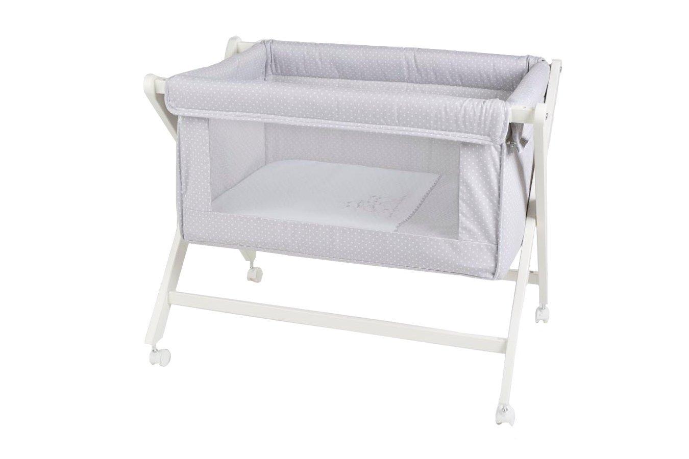 Minicuna de bebe plegable + Ruedas + Colchón + Cubre colchón + Textil: Amazon.es: Bebé