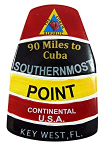 Southernmost Point Magnet Polyresin Key West Florida Souvenir, 3 Inch