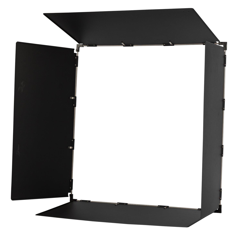 Ikan LBD25 Barn Doors for 2 x 2 Studio Soft Light, Black by Ikan