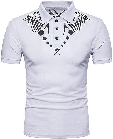 HaiDean Camisa De Manga Corta De para Hombre Camisa Modernas ...