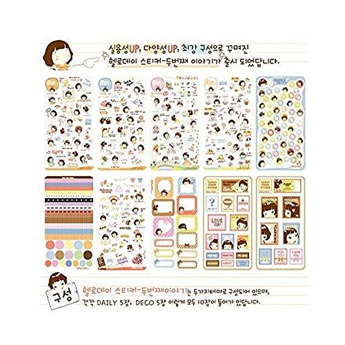 (Vanki 20 Sheets MOMOI Diary Decoration Sticker Scrapbooking Craft Sticker in Tin Case)