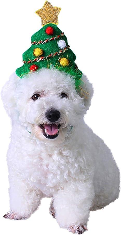 PEDOMUS Gato Disfraz Árbol de Navidad de Hoop Gato Perro Tocado ...