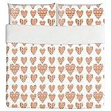 Tribal Hearts Duvet Bed Set 3 Piece Set Duvet Cover - 2 Pillow Shams - Luxury Microfiber, Soft, Breathable