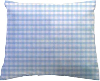 product image for SheetWorld Baby Pillow Case - Blue Gingham - Made In USA