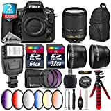 Holiday Saving Bundle for D810 DSLR Camera + 18-140mm VR Lens + 64GB Class 10 Memory Card + 2.2x Telephoto Lens + 0.43x Wide Angle Lens + 6PC Graduated Color Filer Set - International Version