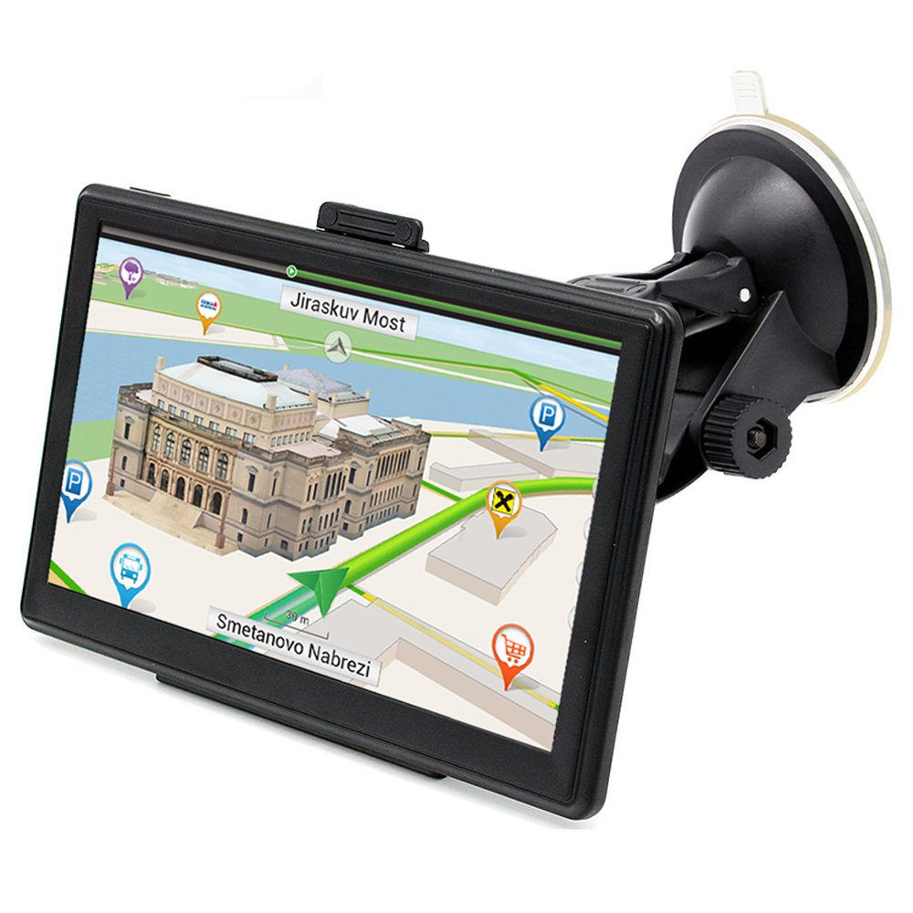 G-TEXNIK WG701 Upgraded Version GPS Navigation for Car GPS Mount Touch Screen 7 Inch Portable Vehicle GPS 8GB RAM 256MB with Lifetime Maps and Traffic Star Navigator System Support FM Radio