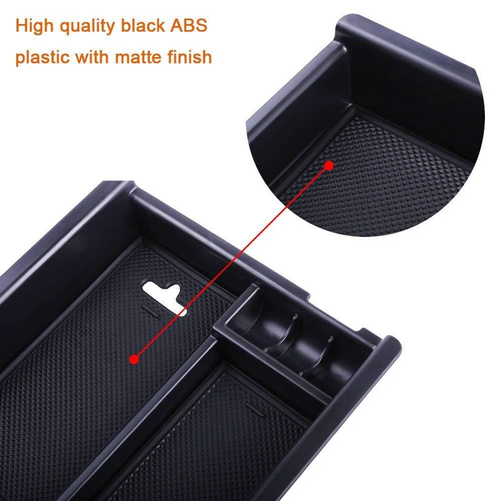 JUSHACHENGTA Toyota Tacoma 2016 2017 2018 Center Console Organizer Insert ABS Black Materials Tray Armrest Box Secondary Storage