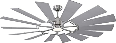 home decorators collection 4 light brushed nickel.htm amazon com monte carlo 14prr62bsd prairie windmill energy star 62  amazon com monte carlo 14prr62bsd