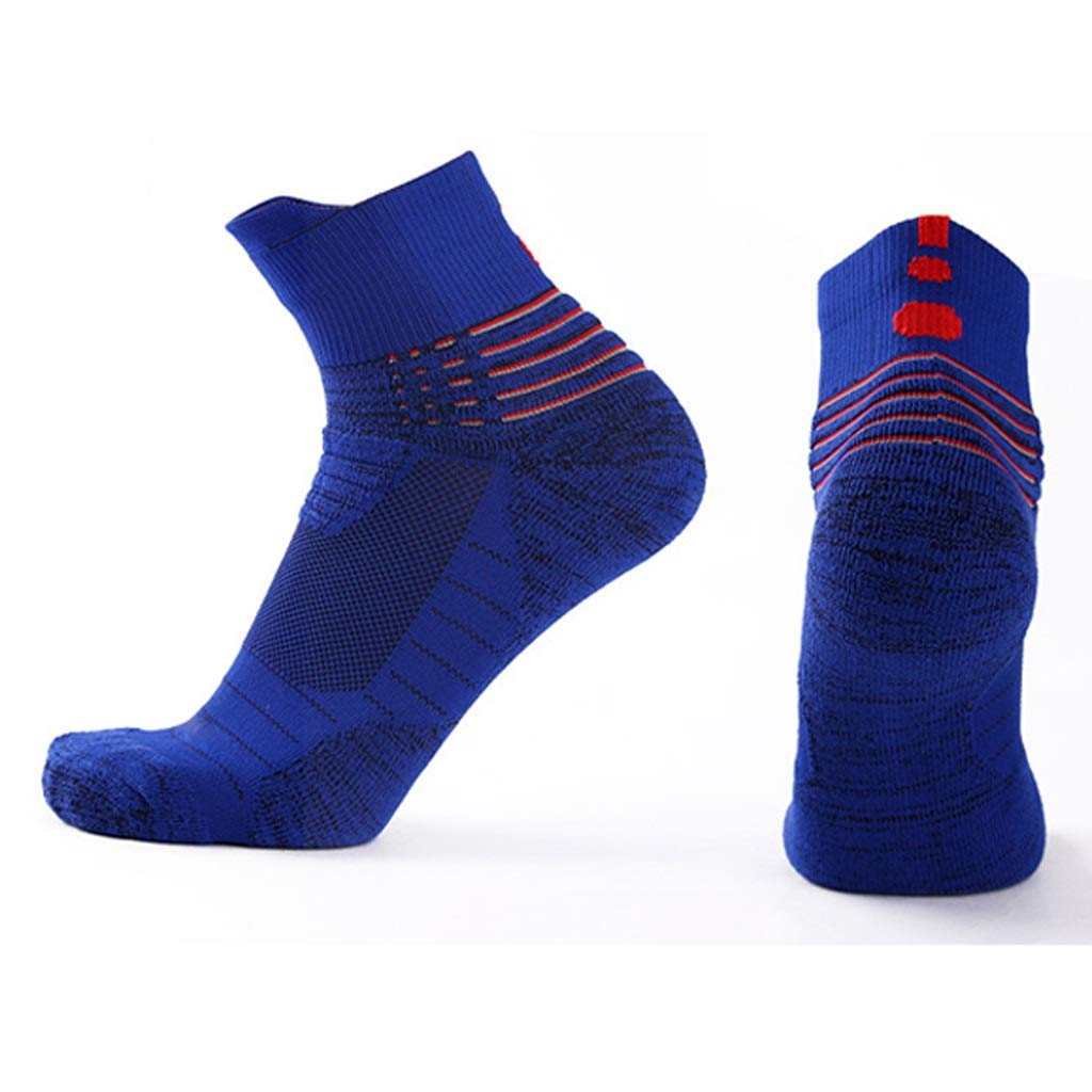 ZHAO YING Basketball Socks - Outdoor Recreation - Breathable - Perspiration - Anti-Slip - Shock Absorption - Socks (Color : Blue)