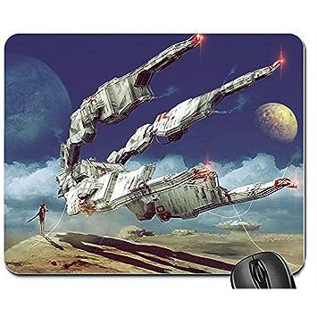 Alfombrilla de Teclado,Nave Espacial Planetas Ciencia ficción ...