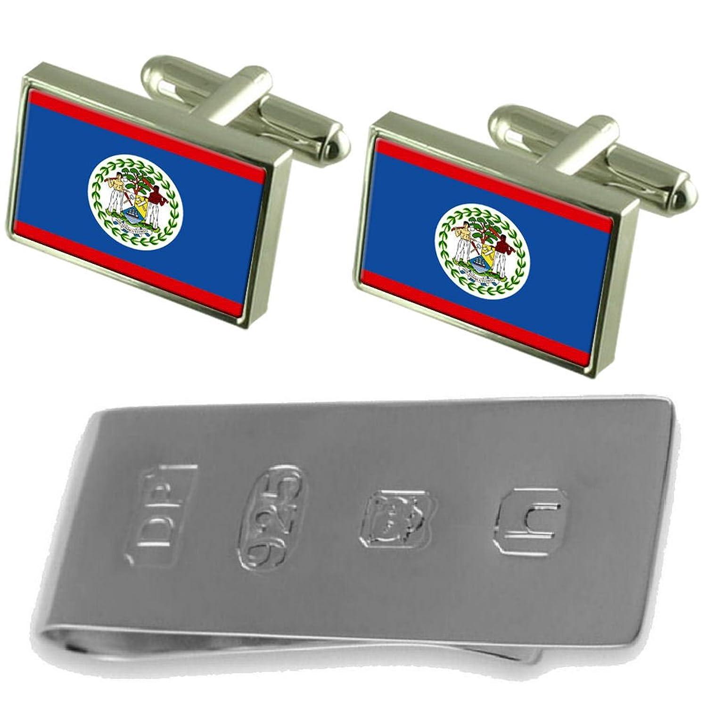Belize Flag Cufflinks & James Bondお金クリップ B0785DX5SH