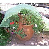 """Frost Protek Medium Plant Cover for Containers -Drawstring Close -Garden Fabric for Protection and Insulation -32"""" High"""