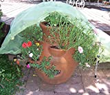 Frost Protek Medium Plant Cover for Containers -Drawstring Close -Garden Fabric for Protection and Insulation -32'' High