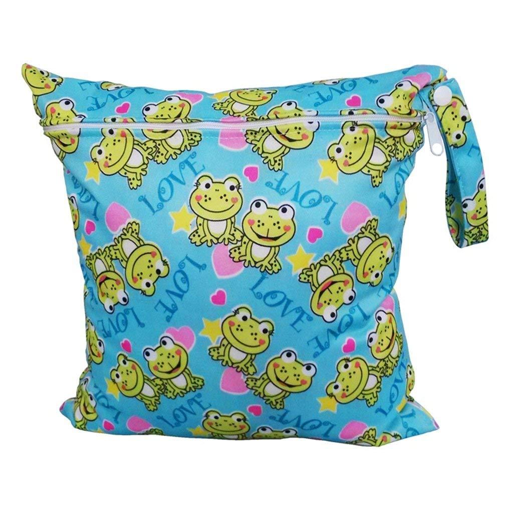 Vvlove bébé Sac Fermeture Éclair imperméable lavable réutilisable bébé Chiffon à langer Sac à langer (Dirigeable) lavable