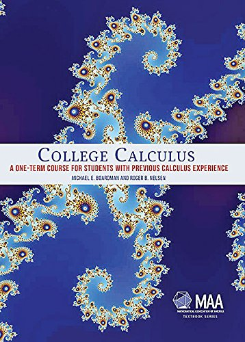 College Calculus (Mathematical Association of America Textbooks)