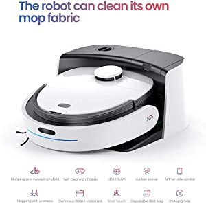 N1 Max Fully Automatic Vacuum Robot Cleaner Household Sweeping and Mopping Robot, self Cleaning of Mop Fabric, Real Mopping with Pressure, 1800Pa Strong Suction, auto Re-charge (N1 Max)