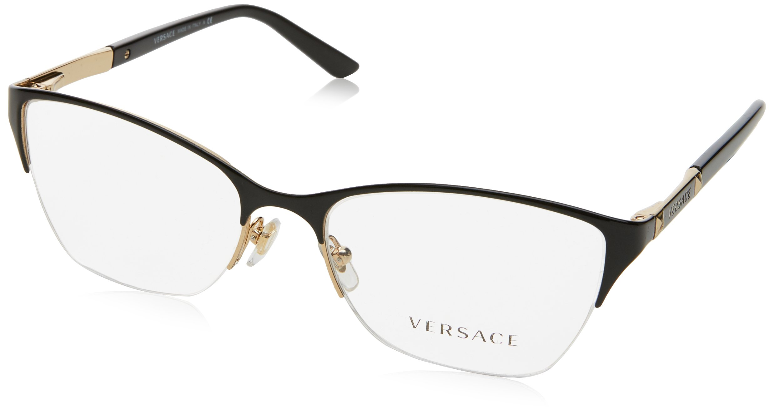 Versace VE1218 Eyeglass Frames 1342-53 - Gold VE1218-1342-53
