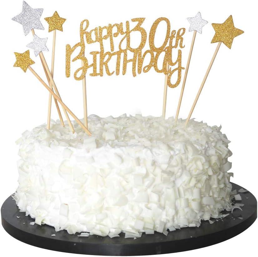 Swell Amazon Com Sunny Zx Happy 30Th Cake Topper For 30Th Birthday Funny Birthday Cards Online Alyptdamsfinfo