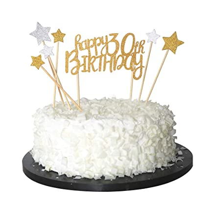 Amazon Sunny ZX Happy 30th Cake Topper For Birthday