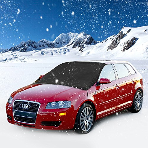 """Car Windshield Snow Cover, Ubegood Windshield Snow and Ice Cover Extra Large Waterproof Frost Rain Resistant Outdoor Car Protection Covers - Fits for Most Vehicles (85"""" x 49"""")"""