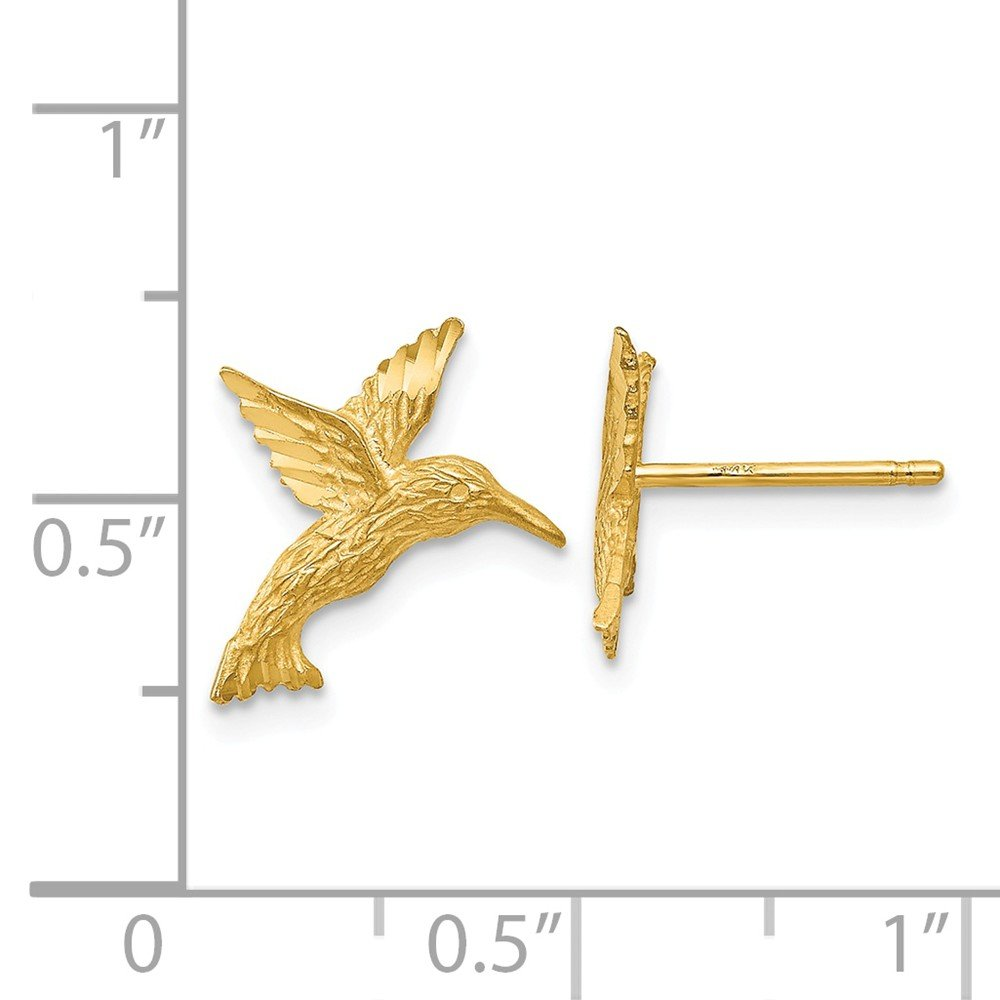 Jewelry Themed Earrings 14K Hummingbird Earrings