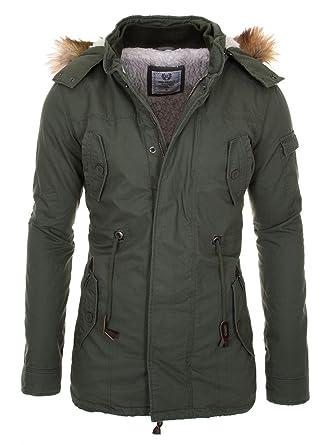 Cipo & Baxx Herren Winterjacke Parka CM107 | Sale%: Amazon