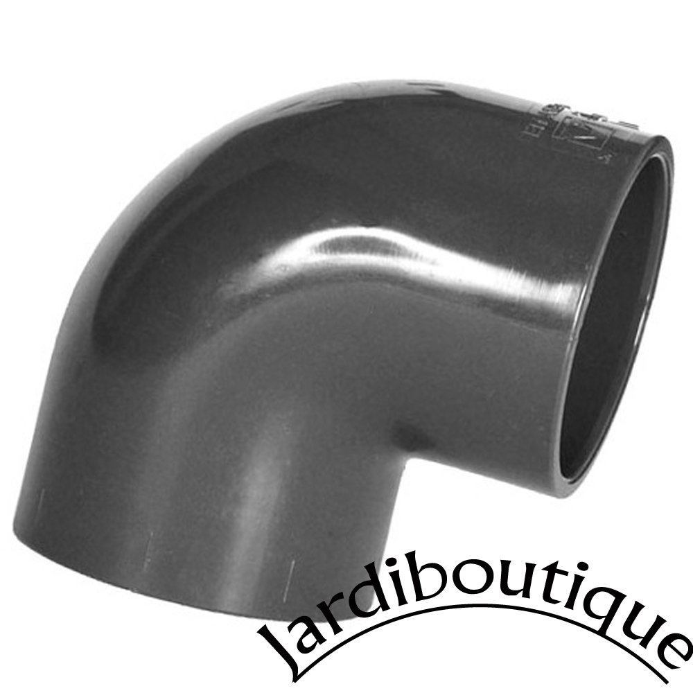 Jardiboutique 90° Angle Push-Button PVC Elbow - Diameter 50 mm for Pool Connection SAS MV