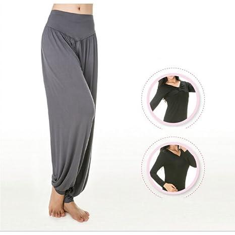 BLUEUK Yoga pantalones de mujer Plus tamaño pantalones de ...