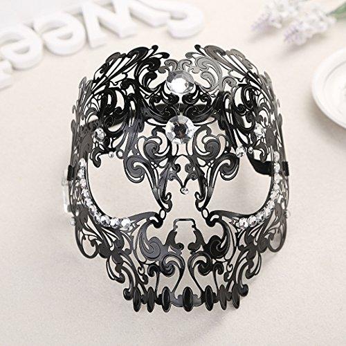 Noir argent Coxeer Masque v/énitien Mascarade Masque Halloween Princesse Masque visage femme