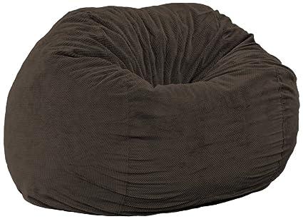 Swell Cordaroys Espresso Chenille Convertible Bean Bag Chair King Beatyapartments Chair Design Images Beatyapartmentscom