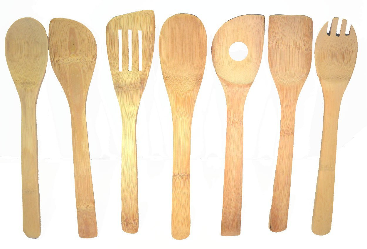 7-piece Bamboo Kitchen Utensils Set Bo-Toys SYNCHKG079702