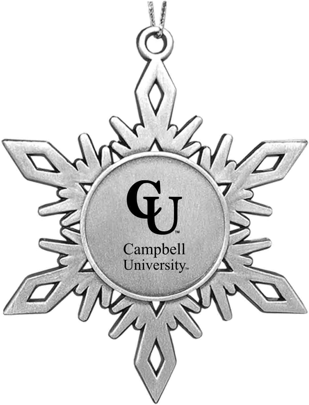 LXG Inc Campbell University Snowflake Ornament Pewter