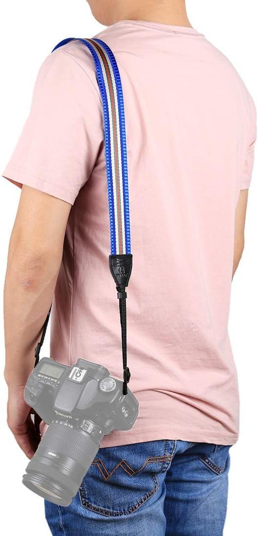 Color : Rose Red GuiPing Stripe Style Series Shoulder Neck Strap Camera Strap for SLR//DSLR Cameras Durable