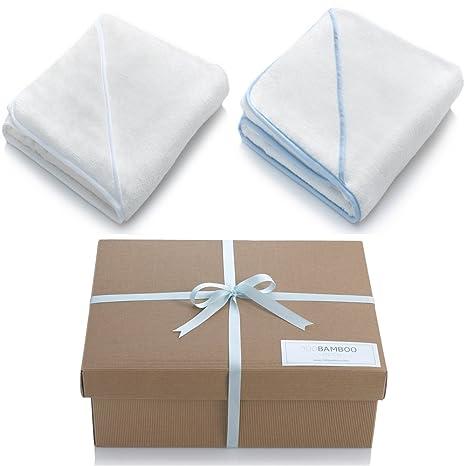 Bambú bebé ropa de baño – sets de regalo de lujo de bambú toalla para bebé