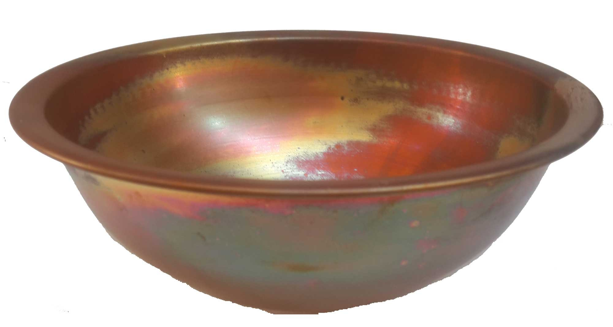Egypt gift shops Satin Smooth Very Small Compact Copper Bowl Basin Toilet Bathroom Sink Lavatory Cabin Motor Van Caravan Portable Home Renovation by Egypt gift shops (Image #5)