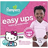 Pampers Easy Ups Pull On Disposable Training Diaper for Girls, Size 6 (4T-5T), Super Pack, 60 Count