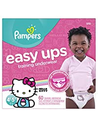 Pampers Easy Ups Training Underwear Girls 4T-5T (Size 6), 60 Count -- Packaging May Vary BOBEBE Online Baby Store From New York to Miami and Los Angeles