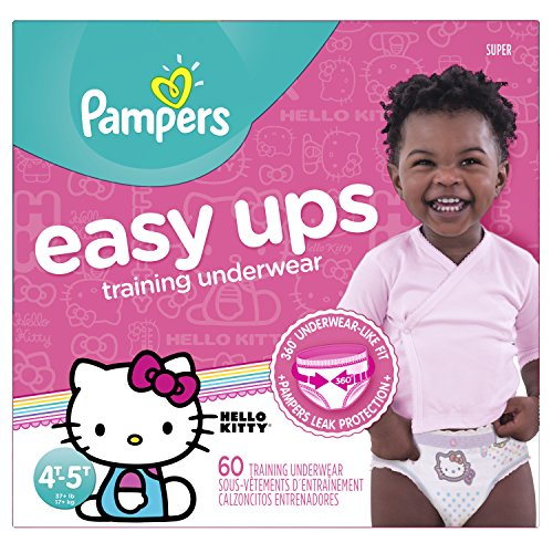 Pampers Easy Ups Training Underwear Girls 4T-5T (Size 6), 60 Count