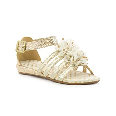 05377cb2df19 Walkright Girls Strappy Wedge Sandal in Gold - Size 4 UK - Multicolour