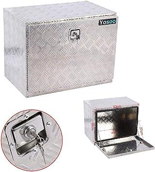 Caja de herramientas para camiones, 24 pulgadas Almacenamiento de remolque para camiones Caja de herramientas de placa de verificación de aleación de aluminio Caja de herramientas para camiones: Amazon.es: Coche y moto