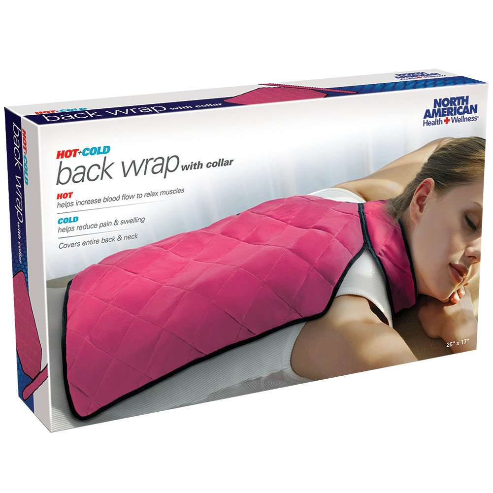 North American Health Hot/Cold Back Wrap w/Collar For Maximum Pain Relief