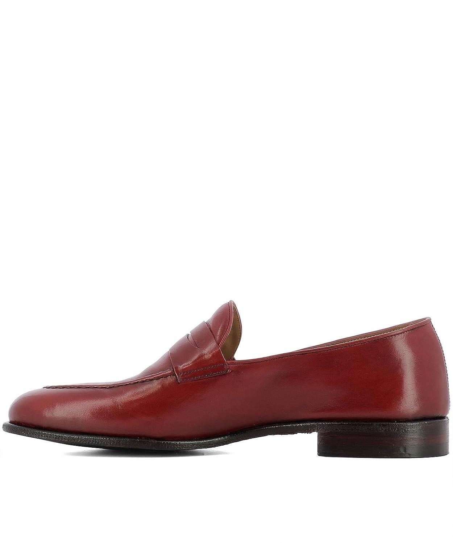 e5d0f65f121355 ALBERTO FASCIANI Herren VULCANO49040 Rot Leder Mokassins  Amazon.de  Schuhe    Handtaschen