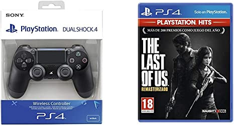 Sony - Dualshock 4 V2 Mando Inalámbrico, Color Negro V2 (PS4) + The Last of us Hits: Amazon.es: Videojuegos
