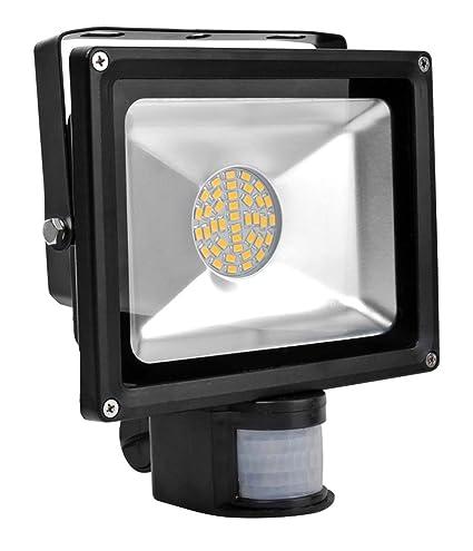 ALPHA DIMA Foco LED 30W con Sensor de Movimiento,smd LED Luz de Inundación Con